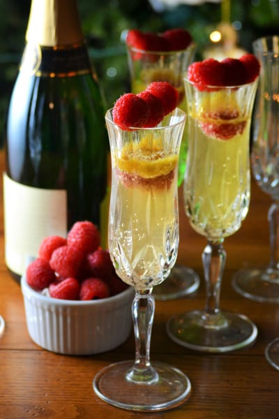 Raspberry Mango Bellini Picture