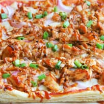 Puff Pastry BBQ Chicken Pizza Recipe
