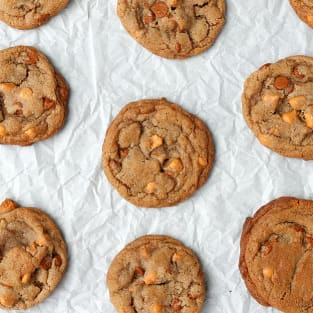 Brown butter cinnamon butterscotch cookies photo