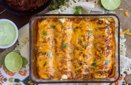 Healthy Chicken Enchiladas: Brinner Beauty