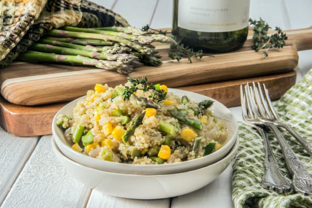 Quinoa Risotto with Asparagus Photo