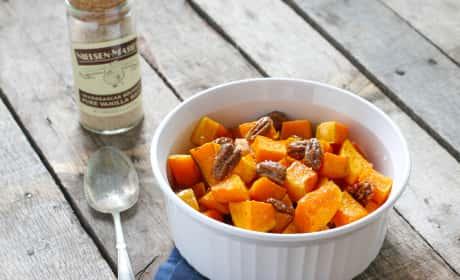 Vanilla Roasted Butternut Squash and Pecans Recipe