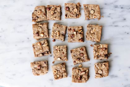 Vegan Hazelnut Blondies