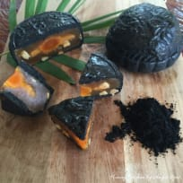 Baked Bamboo Charcoal Mooncakes