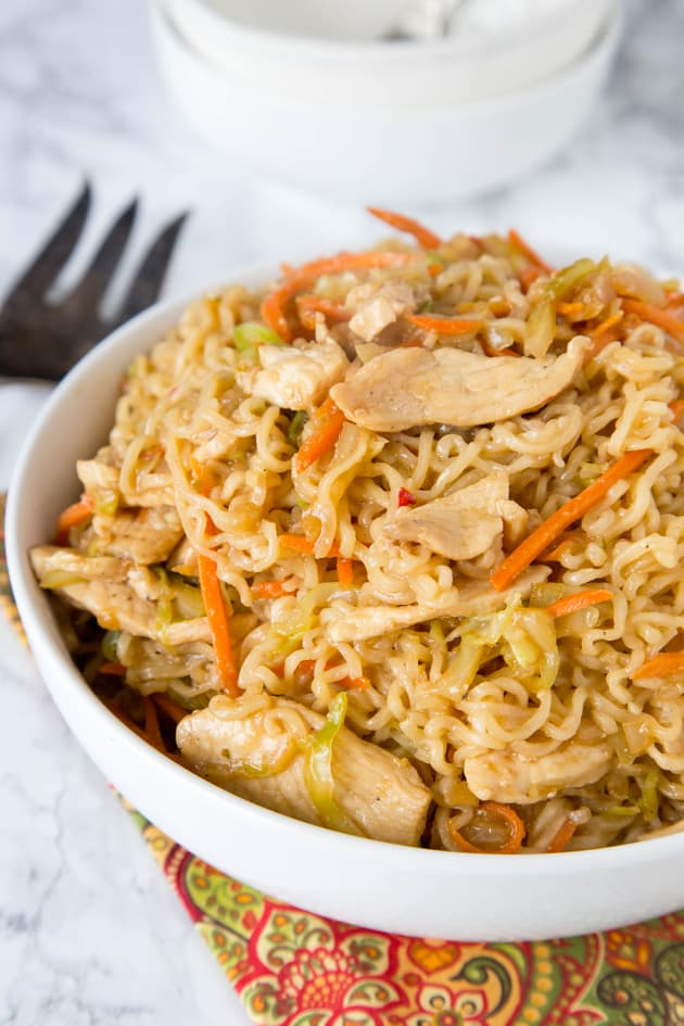 Chow Mein Noodles With Chicken Food Fanatic