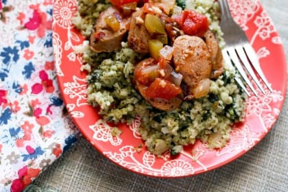 Italian Sausage & Cauliflower Rice