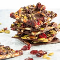 Cranberry Pumpkin Seed Salted Caramel Bark Recipe