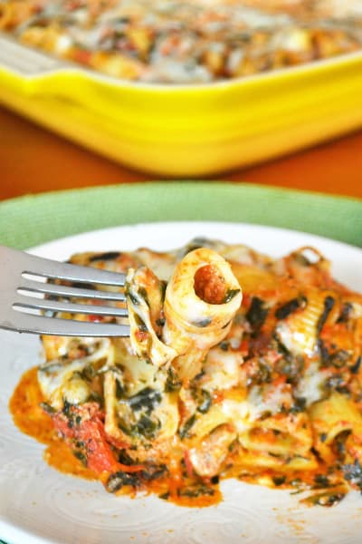Baked Spinach Rigatoni Picture