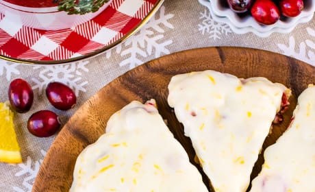 Glazed Cranberry Orange Scones Image
