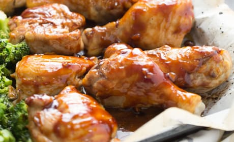 Bourbon Chicken Sheet Pan Dinner Recipe