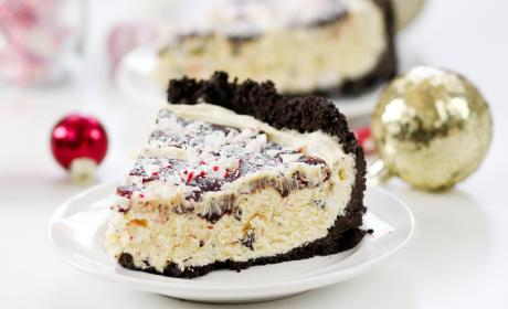 Peppermint Bark Silk Pie