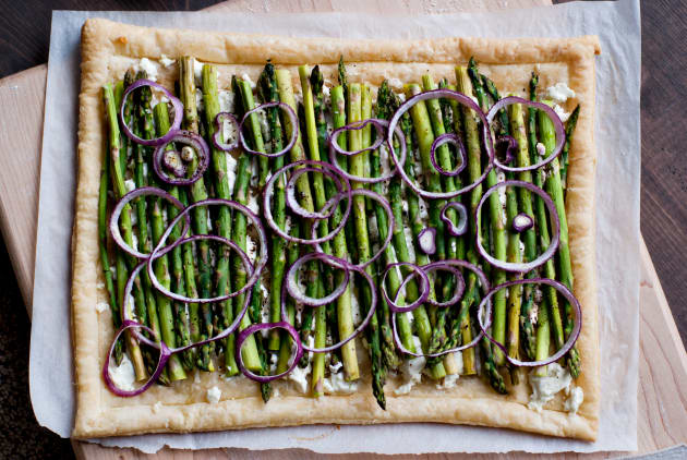 Asparagus and Goat Cheese Tart Photo