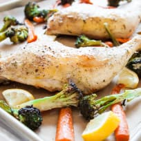 One Pan Roasted Chicken & Vegetables Recipe