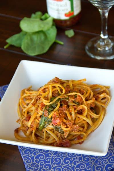 Sun Dried Tomato Pasta Image