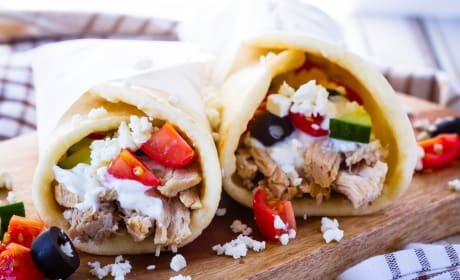 Instant Pot Greek Pork Wraps Pic