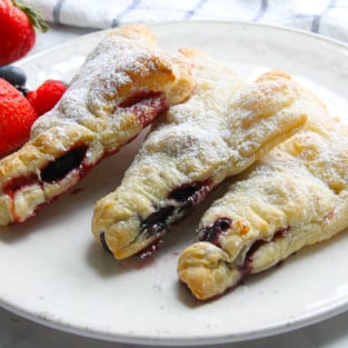 Mixed berry turnovers photo