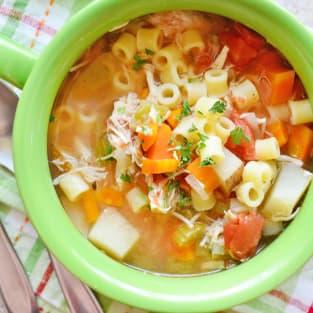 Sicilian chicken soup photo