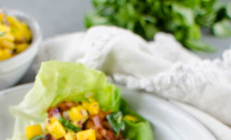Paleo Blackened Shrimp Lettuce Wraps Pic