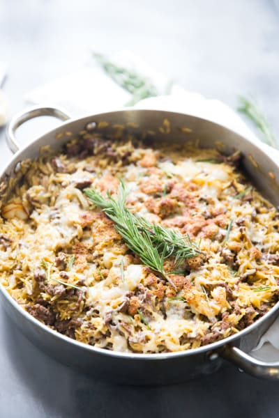 French Onion Skillet Beef Casserole Picture