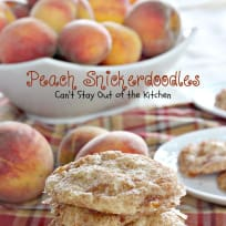 Peach Snickerdoodles
