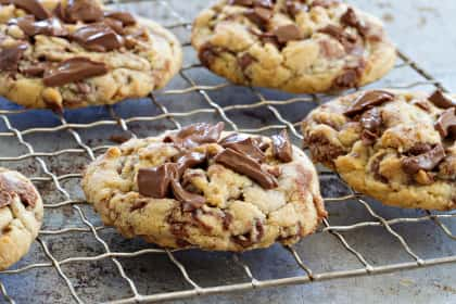 Marbled Chocolate Hazelnut Cookies