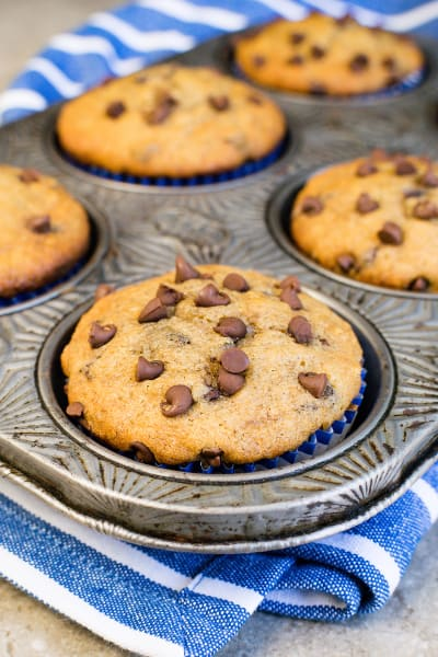 Peanut Butter Chocolate Chip Banana Muffins Picture
