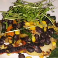 Roasted Root Vegetables with Black Bean Salsa