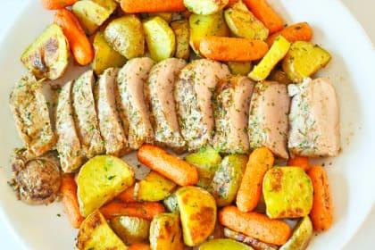 Rosemary Pork Tenderloin Sheet Pan Dinner