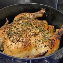 Dutch Oven Roast Chicken with Lemon Recipe