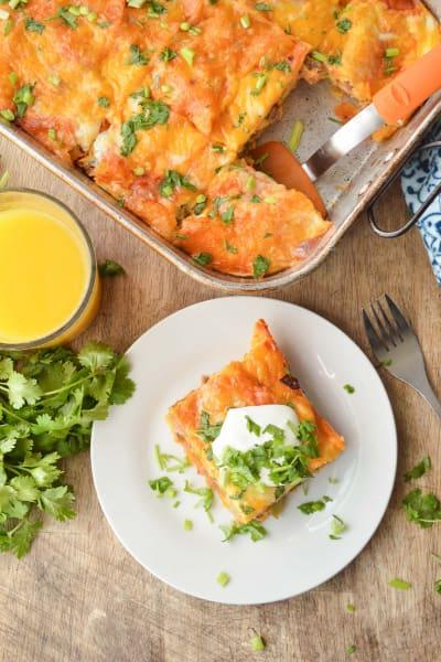 Enchilada Breakfast Casserole Pic