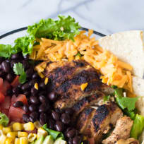 Chicken Taco Salad with Cilantro Ranch Recipe