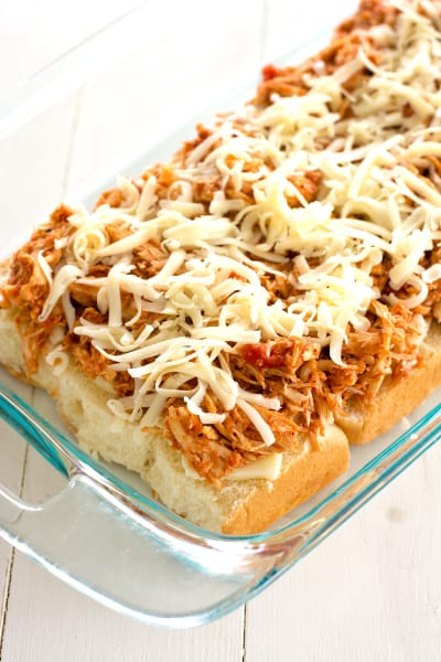 Slow Cooker Chicken Parmesan Sliders Image