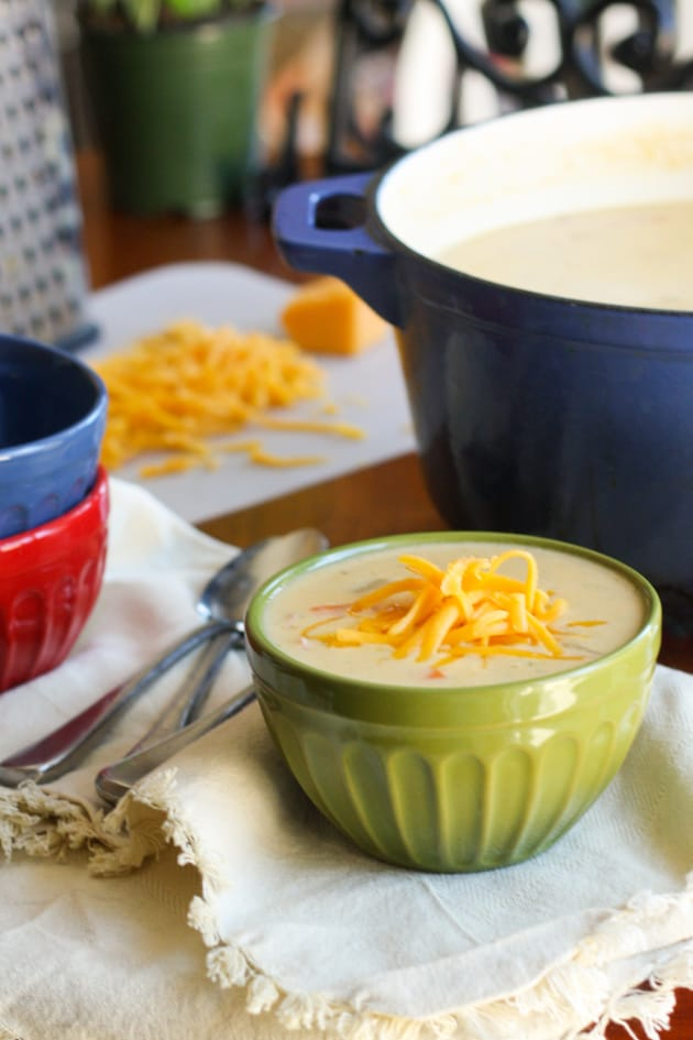 Gluten Free Cheddar Cheese Soup with Ham Picture