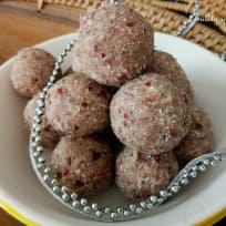 Cranberry  coconut bliss ball