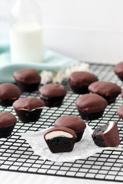 Peppermint Patty Brownie Bites Image