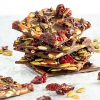 Cranberry Pumpkin Seed Salted Caramel Bark Recipe