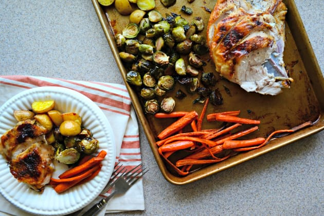 One Pan Honey Roasted Turkey and Vegetables Photo
