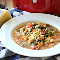 Garbanzo Bean Vegetable Soup with Pearled Couscous Recipe