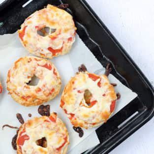 Homemade bagel bites photo