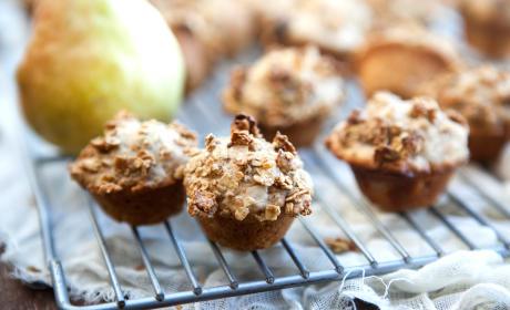 Spiced Pear Mini Muffins