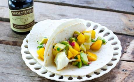 Fish Tacos with Tropical Vanilla Salsa Recipe