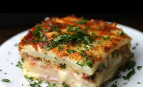 How to Make Layered Ham & Cheese Potato Bake