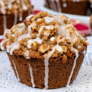 Apple pecan streusel muffins photo