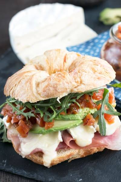 Avocado Prosciutto Brie Sandwiches Picture