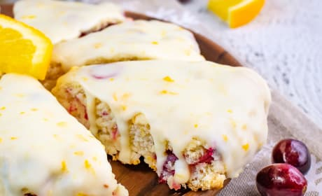 Glazed Cranberry Orange Scones Recipe