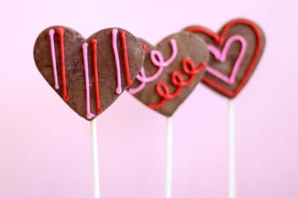 Chocolate Sugar Cookie Pops