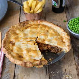 British steak and ale pie photo