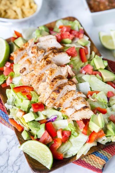 Chicken Fajita Salad Picture