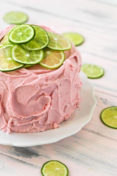Strawberry Limeade Cake Pic