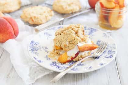 Paleo Peach Shortcake